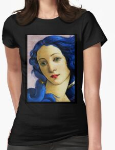 Birth Of Venus In Blue Womens Fitted T-Shirt