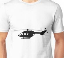 BK117 Helicopter Design in Black on a Sticker/T-Shirt Unisex T-Shirt