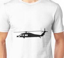 Blackhawk Helicopter Design in Black on a Sticker/T-Shirt v3 Unisex T-Shirt