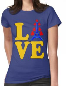 •°♥§Love Paris-Eiffel Tower Fabulous Clothing & Stickers§♥°• Womens Fitted T-Shirt