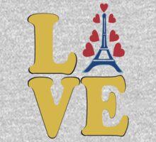•°♥§Love Paris-Eiffel Tower Fabulous Clothing & Stickers§♥°• One Piece - Long Sleeve