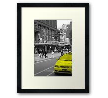 Yellow Taxi Framed Print