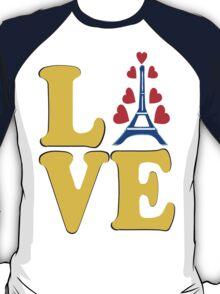 •°♥§Love Paris-Eiffel Tower Fabulous Clothing & Stickers§♥°• T-Shirt