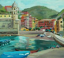 Vernazza, Cinque Terre by Lise Temple