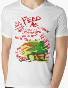 Feed Me Mens V-Neck T-Shirt