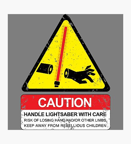 CAUTION: Handle With Care Photographic Print