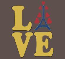 •°♥§Love Paris-Eiffel Tower Fabulous Clothing & Stickers§♥°• One Piece - Short Sleeve
