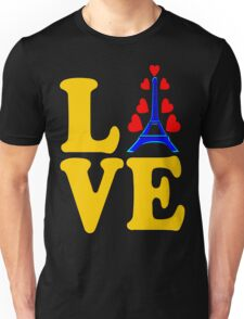 •°♥§Love Paris-Eiffel Tower Fabulous Clothing & Stickers§♥°• Unisex T-Shirt
