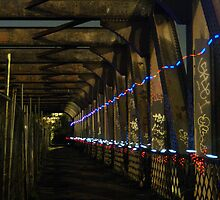 Trailing Lights On The Railway Bridge by petzl
