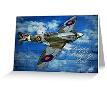 Happy Birthday Dad Spitfire Greeting Card
