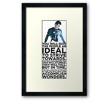 Superman Typography  Framed Print
