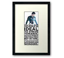 Superman Typography  Framed Print