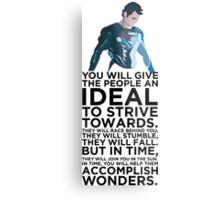 Superman Typography  Metal Print