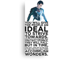Superman Typography  Canvas Print