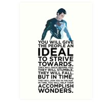 Superman Typography Part 2 Art Print