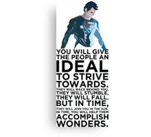 Superman Typography Part 2 Canvas Print