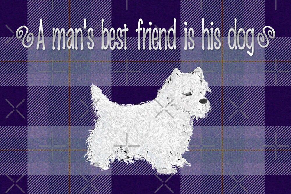 Man's Best Friend Note Card by Vickie Emms