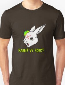RABBIT vs ROBOT Smudgey with Title T-Shirt