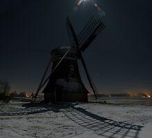Windmill by Night by Ruben Emanuel