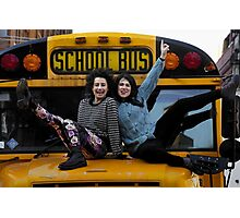 BROAD CITY'S ABBI & ILANA ON A SCHOOL BUS Photographic Print