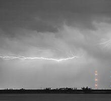 Lightning Bolting Across the Sky BWSC by Bo Insogna