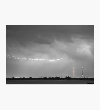 Lightning Bolting Across the Sky BWSC Photographic Print