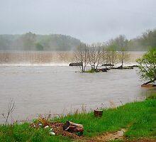 flooded dam by LoreLeft27