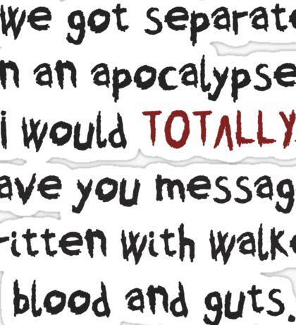 Maggie -walker blood messages, The Walking Dead Sticker