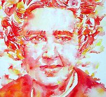 AGATHA  CHRISTIE watercolor portrait by lautir