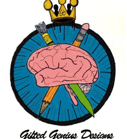 Gifted Genius Designs Logo Sticker