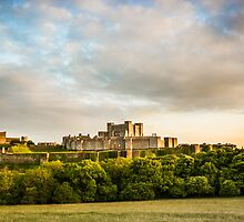 Dover castle Sunset by Ian Hufton