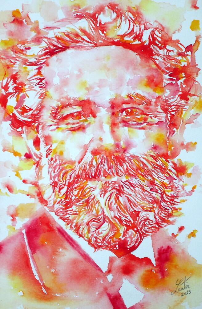 JULES VERNE watercolor portrait by lautir