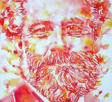 JULES VERNE watercolor portrait by lautir