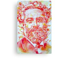JULES VERNE watercolor portrait Canvas Print