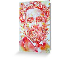 JULES VERNE watercolor portrait Greeting Card