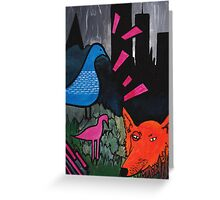 Urban Garden Painting Greeting Card