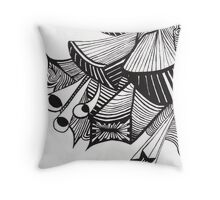 Non Organic painting Throw Pillow