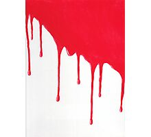 Blood Drenched painting Photographic Print