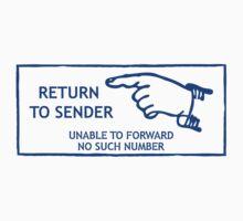 Postage Stamp. Return to Sender Baby Tee