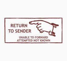 Postage Stamp. Return to Sender One Piece - Short Sleeve