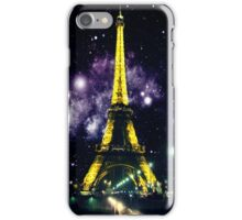 Eiffel Tower Meets Space iPhone Case/Skin