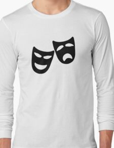 Tragedy and Comedy Masks Long Sleeve T-Shirt
