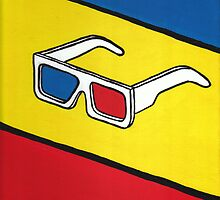 3D Glasses Painting by Fangpunk
