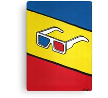 3D Glasses Painting Canvas Print