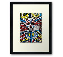 Mexican Skull Vines Painting Framed Print
