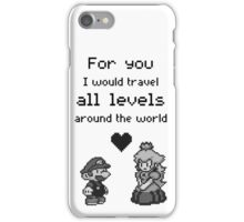 Pixel Mario and Peach iPhone Case/Skin