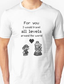 Pixel Mario and Peach T-Shirt