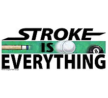 Stroke is Everything 8 Ball Black Photographic Print