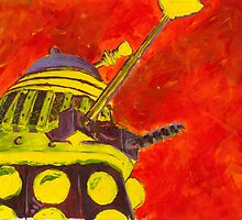 Exterminate - Dalek Painting by B4DW0LF
