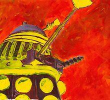 Exterminate - Dalek Painting by B4DW0LF